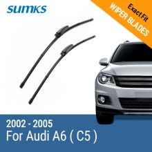 -SUMKS Wiper Blades for Audi A6 ( C5 ) 22'&22' Fit Slider Arms 2002 2003 2004 2005 on JD