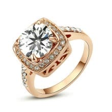 -Yoursfs® 18K Rose Gold Plated 2ct Simulated Diamond Wedding Ring Use Clear Austrian Crystal Fashion Jewelry on JD