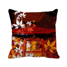 -Japan Japanese Style Leaves Pavilion Square Throw Pillow Insert Cushion Cover Home Sofa Decor Gift on JD
