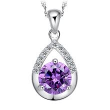 -Water Drop Pendant Necklace For Women Cubic Zirconia High Quality Fashion Jewelry Valentine's Day Gift  WH on JD