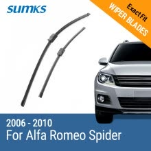 -SUMKS Wiper Blades for Alfa Romeo Spider 23'&18' Fit Side Pin Arms 2006 2007 2008 2009 2010 on JD
