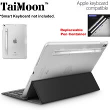 -TaiMoon Clear Compatible with Smart Keyboard Case for Apple iPad Pro 10.5 inch (2017) -  with Pen Container Holder on JD