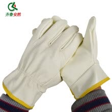 -Qilu Enron welding gloves oil resistant gloves / wear-resistant gloves labor insurance gloves insulation gloves high temperature gloves on JD