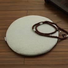 slipcovers-seat-cushion-Nobildonna Linen Round Chinese Style Floor Cushions Meditation Cushion Chair Pads Tatami on JD