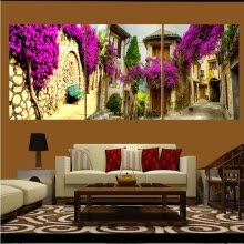 8750202-Canvas Painting Pictures Modular Decorative On The Wall For Living Room Art Sofa Backdrop Modern Pictures Landscape 40X50cmX3pcs on JD