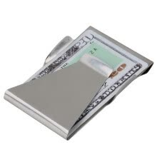 -Slim Money Clip Double Sided Cash Credit Card Holder Wallet Stainless Steel on JD