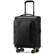 -American Travel AmericanTourister Trolley Case Business Light Soft Box Universal Wheel Luggage Men and Women Red Dot Design Large Capacity Travel Bag DB7TSA Lock 31 Inch Gray on JD