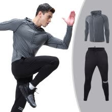 8750510-Men's Sportswear Running Set Sports Set jogging Suits Clothes Tracksuit Zipper Coat And Pants Gym Traning Fitness Set 2pcs/Sets on JD