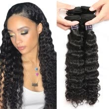-Malaysian Deep Curly Virgin Hair 3 Bundles 8A Malaysian Deep Wave Unprocessed Virgin Hair Malaysian Virgin Hair Cheap Human Hair on JD