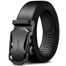belts-American wild cowhide belt male automatic buckle Korean business casual belt N71314-1B black black buckle on JD