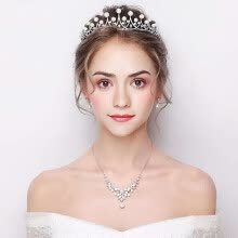 875062531-Elegant Headdress Luxury Rhinestone Crown Wedding Bridal Tiaras on JD