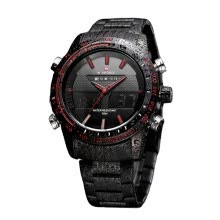 -NAVIFORCE 9024 Men Luxury Brand Full Steel Quartz Clock Digital LED Army Military Sport Watch on JD