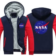 -2018 New USA SIZE Men Winter Autumn Hoodies NASA Space Administration pattern Fleece Coat Baseball Uniform Sportswear Jacket wool on JD
