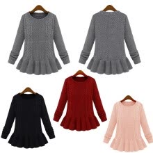 875061823-Women Slim Twist Pullover Bottoming shirt Knitwear Sweater Winter Top Jumper on JD