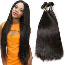 -YAVIDA Virgin Indain Straight Hair 4 Bundles Unprocessed 7A Virgin Hair Cheap Human Hair Weave Raw Indian Hair Products on JD