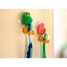 bathroom-supplies-MyMei Plastic Animal Toothbrush Spinbrush Holder Suction Stand Bathroom Accessory on JD
