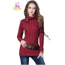875061823-M High Quality chest 72-88cm cashmere vintage new winter 2017 women sweater and pullover long sleeve turtleneck black red female on JD