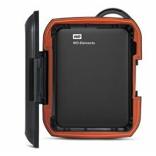 memory-cards-Rugged Hard Disk Western Digital Protect Case Drive Shockproof black on JD