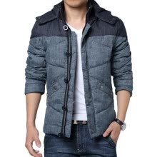 jackets-CT&HF Men Casual Fashion Silm Coat Korea Thickening High Quality Stitching Long-Sleeved Jacket Sports Style Handsome Coat on JD