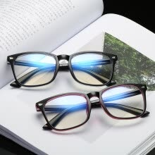 875062531-New Fashion Computer Glasses Frame Women Men Anti-blue Radiation Protection Flat Mirror Square Frame Eyeglasses With glasses box on JD