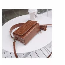 crossbody-bags-New stylish cool nail leather tassel ladies all-match Crossbody bag  shoulder bag on JD