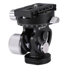 tripods-mounts-PULUZ 2-Way Pan/Tilt Tripod Head Panoramic Photography Head with Quick Release Plate & 3 Bubble Level on JD