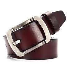 -Fashion belt men's leather retro cowhide belt wild casual leather belts zigzag belt on JD