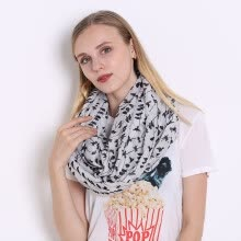 875062531-JeouLy Infinity Scarves Women White Bird lady loop scarf autumn shawl ring tube scarf female circle on JD