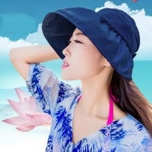 875062531-plain summer women hat sports polyester quick dry women's beach hat female girl visor cap round panama chapeau femme on JD