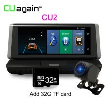 -CU2 8 '' DVR GPS 4G Wifi 1080 FHD Dash Cam Android Камера заднего вида Камера заднего вида Регистратор видеорегистратора Bluetooth on JD