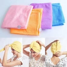 8750203-Strong Water Absorption Magic Microfibre Hair Drying Wrap Towel Turban 261575 on JD