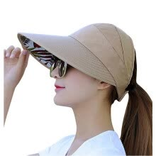 -Outdoor Sun Hats for Women Wide Brim UV Protection Sun Hat Summer Beach Packable Visor on JD