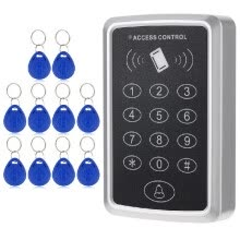 87502-125KHz Single Door Proximity RFID Card Access Control System Keypad Include 10pcs ID Keyfobs on JD