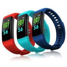 -Smart Bracelet Wristband Fitness Tracker Цветной экран Heart Rate Sleep Pedometer Sport Водонепроницаемый отслеживатель активности iPhone Samsung on JD