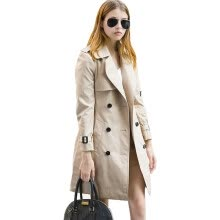 875061834-BURDULLY 2018 Ladies Elegant Europe And America Style Fashion Trench Coat Winter Casual Slim Double Breasted Outwear Coat Long on JD