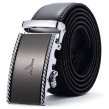 belts-Alpine kangaroo (L'ALPINA) men's belt leather fashion belt men's business casual automatic buckle belt (Belt Length Random Delivery) on JD
