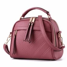-solid casual thread zipper small totes woman purse hotsale party shopping handbag shoulder messenger crossbody bags on JD