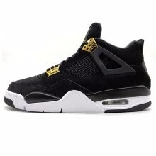 ad7465045e90 Nike Air Jordan 4 Royalty AJ4 Joe 4 Luxury Black Gold Suede Men s Basketball  Shoes Original Outdoor Sports Shoes