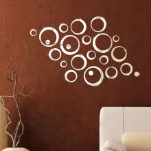 8750202-mymei Mirror Tile Wall Sticker 3D Decal Mosaic Room Decor Stick On Modern Art on JD
