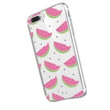 -Ultra slim Pink Watermelon,Sweet donut,Colorful hamburger,green clover, Sex lips transparent soft case for iphone 5S/SE/6/7/8/X on JD
