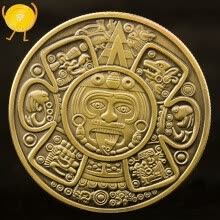 8750207-Commemorative Coin Maya Civilization Collection Gifts Souvenir Craft Art Bitcoin Mexican coins on JD