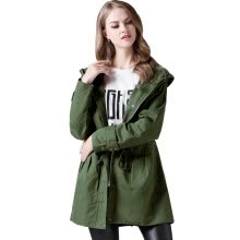 -BURDULLY Fashion Women Winter Trench Coat Plus Size 2018 Autumn Army Green Hooded Long Coat Ladies Outwear Sobretudo Feminino on JD