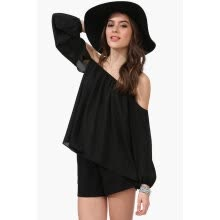 -T-shirt Tops Women Chiffon Off Shoulder Long Sleeve Sexy Casual Loose Blouse on JD