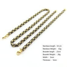 -Hpolw Stainless Steel 5mm Square Byzantine Box Link Necklace or Bracelet Men's Jewelry on JD