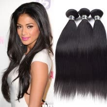 -Amazing Star Indian Virgin Straight Hair 3 Bundles Straight Hair Bundles Human Hair Weave Soft and Bouncy on JD