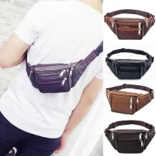 875062576-Waterproof Waist Fanny Pack Belt Bag Pouch Travel Sport Hip Purse Men Women on JD