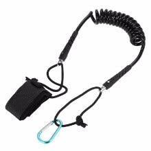 8750505-Kayak Leash Elastic Coiled Paddle Leash for Kayak Canoe Rowing Boat Safety Rod on JD