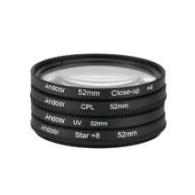 lens-filters-Andoer 52mm Filter Kit UV CPL Close Up 4 Star8 Point for Nikon Canon DSLR Camera on JD