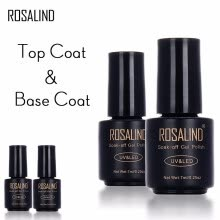 -ROSALIND 7ML Base&Top Gel Nail Polish Semi Permanent Tempered Top Rein Force Gel Rubber For Gel Varnishes Manicure Nail Art on JD