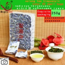 -250g 32 small bags Anxi Tieguanyin Oolong Tea  Vacuum packing Natural Organic  Chinese Top grade Tikuanyin tea on JD